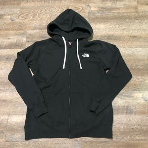 The North Face black zip hoodie women's XL